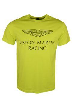 T-shirt Hackett T-shirt col rond Aston Martin jaune pour homme(127991741)