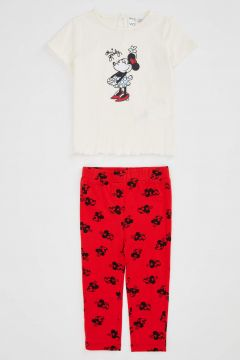DeFacto Kız Bebek Minnie Mouse Lisanslı Alt Üst Takım(125922996)