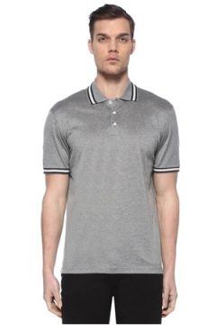 Luciano Barbera Erkek Gri Polo Yaka T-shirt XL EU(113466253)