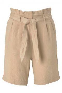 TOM TAILOR Damen Paperbag-Shorts aus Leinengemisch, beige, Gr.36(111110169)