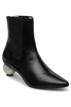 Roxanne Black Boot With Pearl Heel Shoes Boots Ankle Boots Ankle Boots With Heel Schwarz MOTHER OF PEARL(118485180)