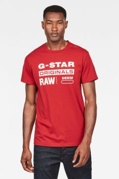 G-Star RAW Men Graphic 8 T-Shirt Red(118533021)