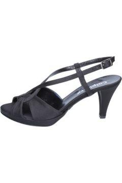 Sandales Calpierre sandales noir satin BZ739(115398978)
