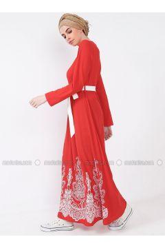 Coral - Multi - Crew neck - Dresses - MisCats(110314042)