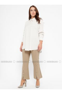 Camel - Plus Size Pants - CARİNA(110320139)