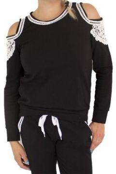 Sweat-shirt Primtex Haut de jogging noir avec dentelle blanche(115421600)