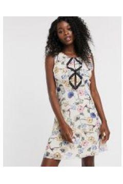 Urban Bliss - Adeline - Vestito floreale con borchie sul davanti-Multicolore(120329666)