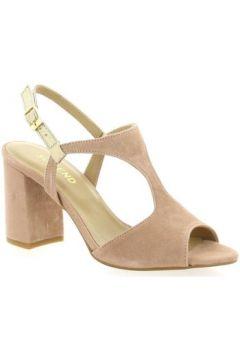 Sandales So Send Nu pieds cuir velours nude(127910105)
