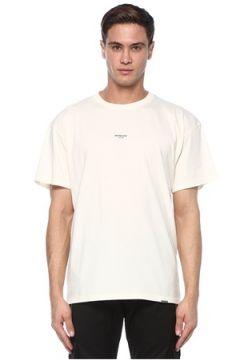 Represent Erkek Beyaz Logo Baskılı T-shirt S EU(117578376)