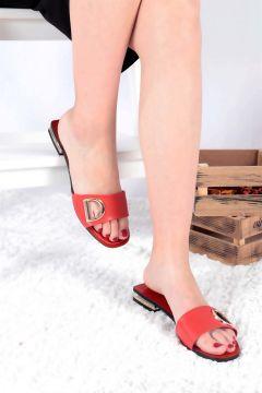 Buffalo Kadın Kırmızı Topuklu Terlik(121300930)