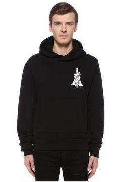 Amiri Erkek Dagger Siyah Kapüşonlu Baskılı Sweatshirt XL EU(108516026)