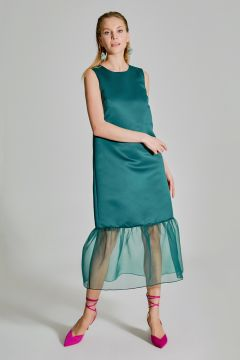 People By Fabrika Organze Detaylı Saten Elbise(119263509)