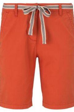 TOM TAILOR Damen Relaxed Chino Bermuda Shorts mit Stoffgürtel, orange, Gr.36(116472086)