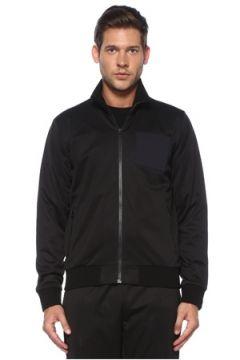 Givenchy Erkek Siyah Dik Yaka Logo Patchli Sweatshirt L EU(119785518)