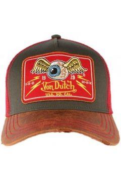 Casquette Von Dutch Casquette Rouge cuir Flying Eyeball Truck(115593181)