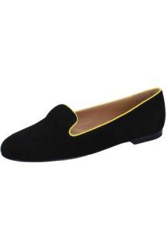 Chaussures Bally mocassins noir daim jaune BY03(115400836)