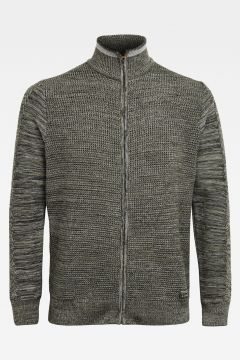 Zip Through Knitted Cardigan(117486501)