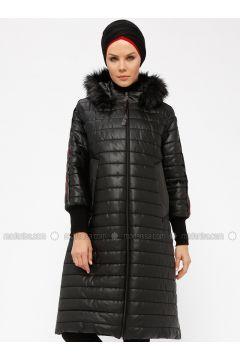 Black - Fully Lined - Polo neck - Coat - Miorespiro(110335499)