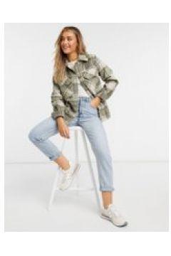 Urban Bliss - Camicia giacca a quadri-Verde(121963590)