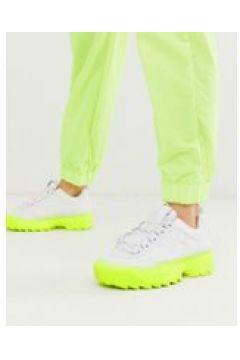 Fila - Disruptor II - Gelbe Sneaker mit Farbverlauf und dicker Sohle - Weiß(95031370)