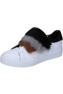 Baskets Islo sneakers blanc cuir fourrure BZ211(115393953)