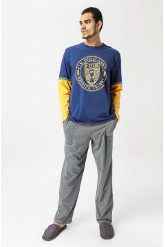 U.S. Polo Assn. Petrol Baskılı Pijama Takımı(126442538)