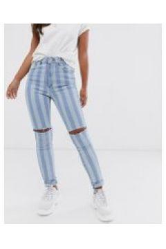 Abrand - Jeans vita alta skinny alla caviglia-Blu(120356035)