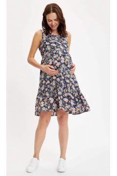 DeFacto Kadın Regular Fit Çiçiek Desenli Hamile Elbise(119064710)