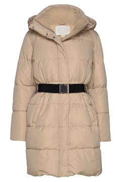 Molly Vegan Down Coat Gefütterter Mantel Beige NOTES DU NORD(114152861)