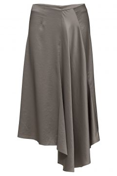Drapey Satin Skirt Knielanges Kleid Grau FILIPPA K(114150905)