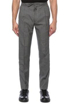 Lardini Erkek Gri Beli Kordonlu Yün Pantolon 54 IT(118330073)