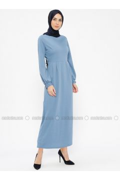 Blue - Baby Blue - Crew neck - Unlined - Dresses - PINK APPLE(110313830)