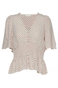 Olivia Top Blouses Short-sleeved Creme NOTES DU NORD(114153603)