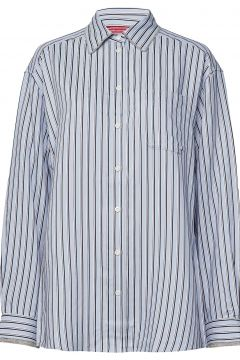Iconic Tommy Stripe Shirt Ls Langärmliges Hemd Blau HILFIGER COLLECTION(114150685)