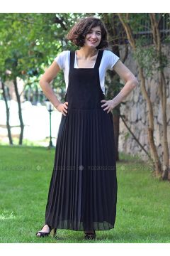 Black - Sweatheart Neckline - Unlined - Dresses - Minimal Moda(110331193)