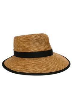 Eric Javits Kadın Bej Siyah Hasır Dokulu Şapka EU(114438743)