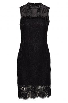 Crimson Lace Emb. Dress Kleid Knielang Schwarz MARCIANO BY GUESS(114163936)