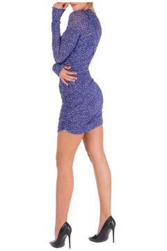 Women's short mini dress long sleeve(118334496)