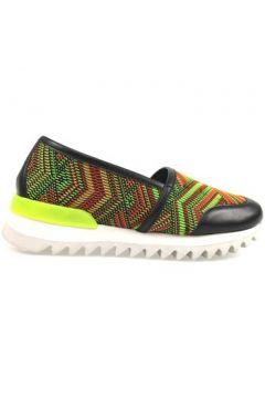 Chaussures Greymer slip-on noir cuir vert textile ap809(115443166)