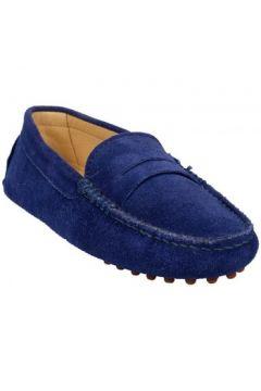 Chaussures Bobbies Mocassins La Parisienne Bleu(127852887)