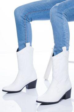 Ayakkabı Frekansı Kadın Beyaz Çizme(122856040)