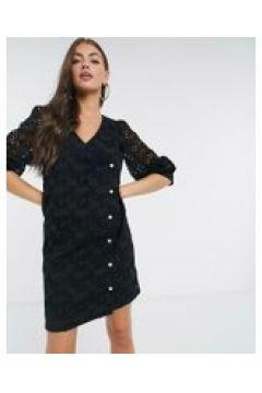 Just Female - Avador - Vestito corto a portafoglio in pizzo nero(122238654)