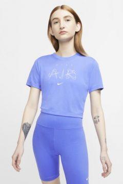 Nike Sportswear Luxe Dar Kesimli Kısa Kadın Tişörtü(114345482)