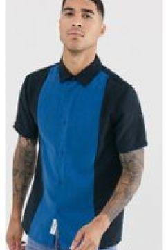 Native Youth - Camicia colour block a maniche corte-Navy(120280740)