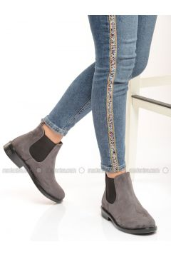 Gray - Boot - Boots - Shoestime(110333061)