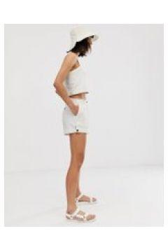 Weekday - Weiße Shorts mit Knopfdetail(94964150)