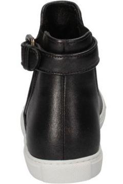 Chaussures Roberto Cavalli sneakers gris cuir noir textile AD191(115394064)