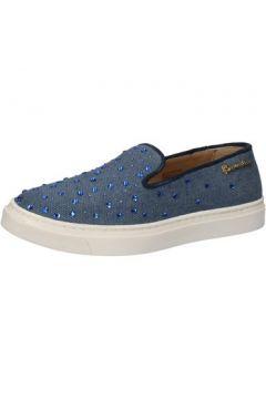 Chaussures Braccialini slip on bleu textile strass AE540(115399506)