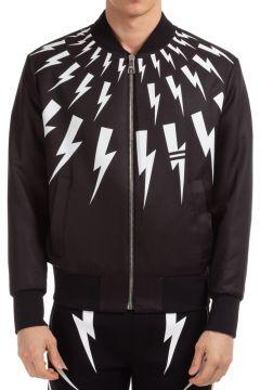 Men's outerwear jacket blouson reversibile graffiti & thunderbolt(118298947)