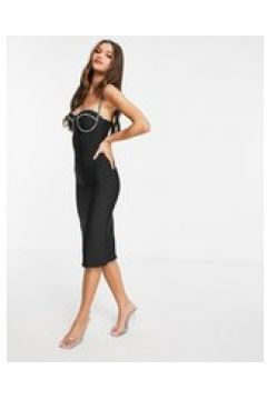 Rare London - Vestito attillato con strass nero(122747709)